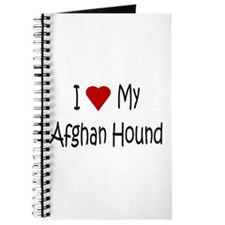 Afghan Hound Dog Journal