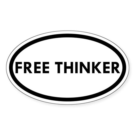Free Thinker Oval Sticker (10 pk)