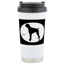 Boxer Silhouette Travel Coffee Mug