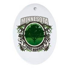 Tree Hugger Minnesota Oval Ornament