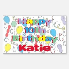 Katie's 10th Birthday Rectangle Decal
