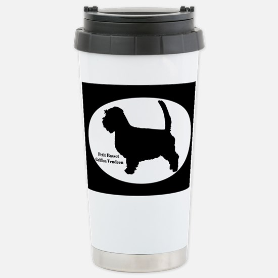 PBGV Silhouette Stainless Steel Travel Mug