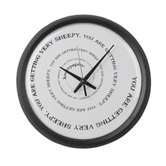 Knittyspin is making you sheepy! Large Wall Clock
