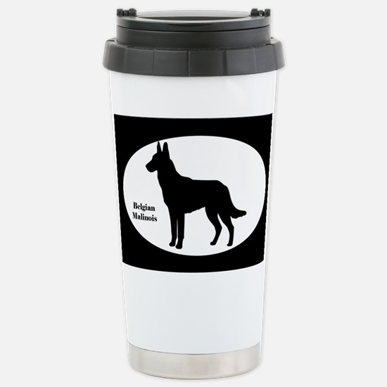 Malinois Silhouette Stainless Steel Travel Mug