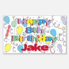 Jake's 8th Birthday Rectangle Decal