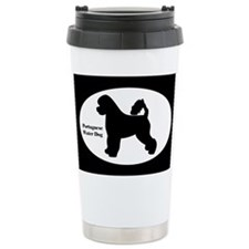 Portuguese Water Dog Silhouette Thermos Mug