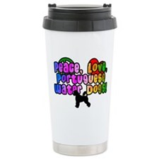 Hippie Portuguese Water Dog Travel Mug