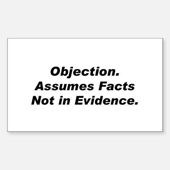 Objection/Facts Rectangle Decal