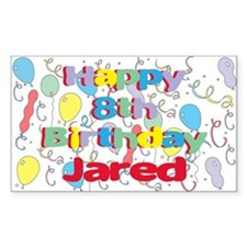 Jared's 8th Birthday Rectangle Decal