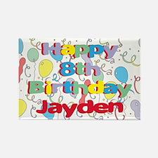Jayden's 8th Birthday Rectangle Magnet