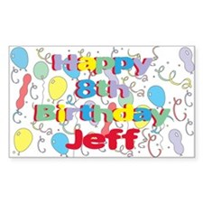 Jeff's 8th Birthday Rectangle Decal