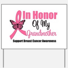 Breast Cancer Honor Yard Sign