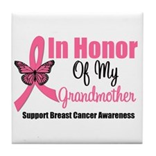 Breast Cancer Honor Tile Coaster