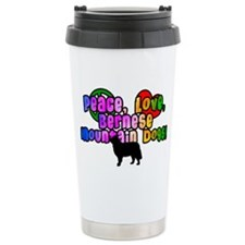 Hippie Bernese Mountain Dog Travel Mug