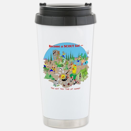 DO NOT TRY THIS AT HOME Stainless Steel Travel Mug