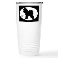 Bichon Frise Silhouette Travel Coffee Mug
