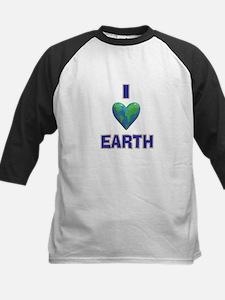 I Heart Earth Kids Baseball Jersey