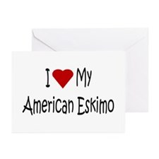 American Eskimo Dog Greeting Cards (Pk of 10)