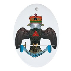 32nd Degree Master Mason Oval Ornament