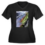 Cobra Curves Women's Plus Size V-Neck Dark T-Shirt