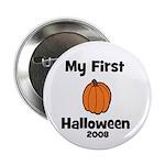 """My First Halloween 2008 Pumpk 2.25"""" Button"""