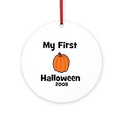 My First Halloween 2008 Pumpk Ornament (Round)