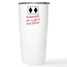 Diamonds are a girl's best fr Travel Mug