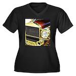 1926 Ford Women's Plus Size V-Neck Dark T-Shirt