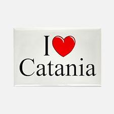 """I Love (Heart) Catania"" Rectangle Magnet"