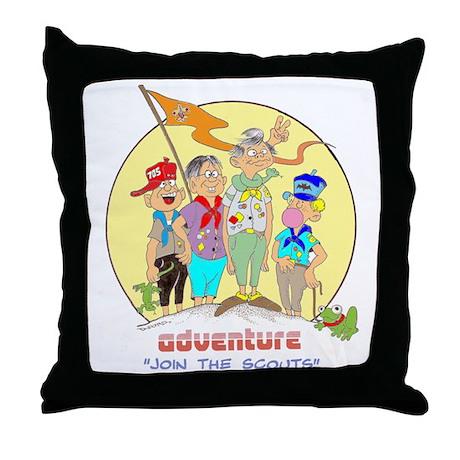 ADVENTURE-BOY SCOUTS II Throw Pillow