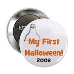 "My First Halloween 2008 Ghost 2.25"" Button"