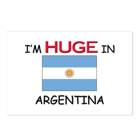 I'd HUGE In ARGENTINA Postcards (Package of 8)