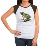 Leopard Frog (Front) Women's Cap Sleeve T-Shirt