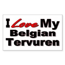 Belgian Tervuren Rectangle Decal