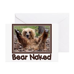 Bear Naked Greeting Cards (Pk of 10)