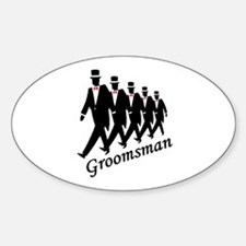 Groomsman Oval Decal