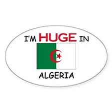 I'd HUGE In ALGERIA Oval Decal