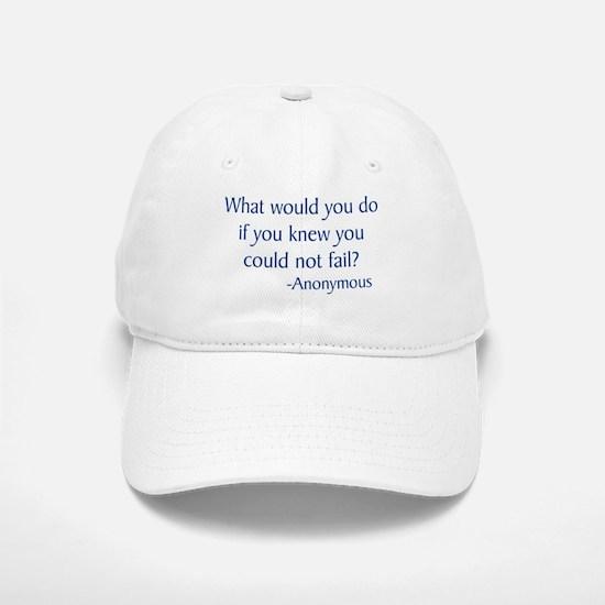 What Would You Do Baseball Baseball Cap
