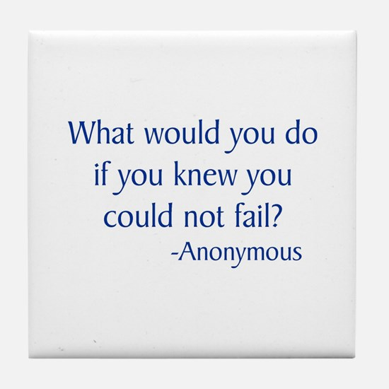 What Would You Do Tile Coaster