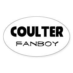 Ann Coulter Oval Sticker (10 pk)