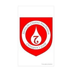 SCA Chirurgeon's Guild Rectangle Sticker 10 pk)