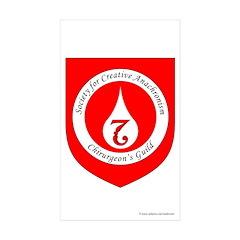 SCA Chirurgeon's Guild Rectangle Sticker 50 pk)