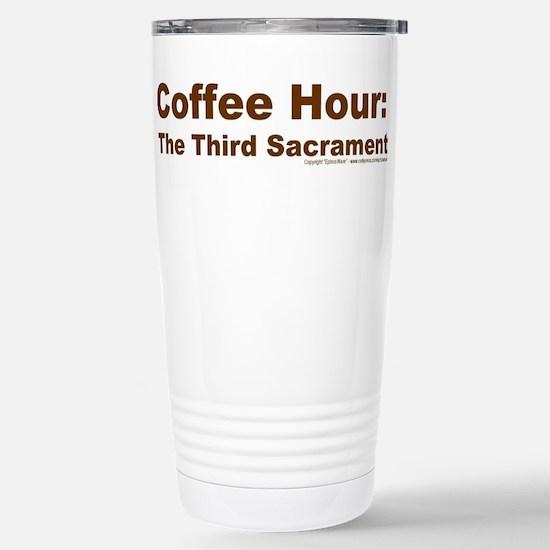 Coffee Hour Stainless Steel Travel Mug