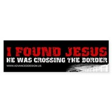 I found Jesus Bumper Bumper Sticker