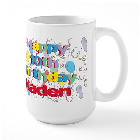 Kaden's 10th Birthday Large Mug