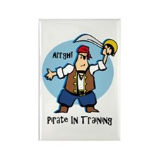 Pirate In Training Rectangle Magnet