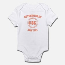 Cutekid rules Infant Bodysuit