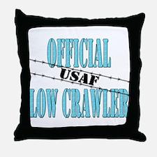 Official USAF Low Crawler (boy) Throw Pillow