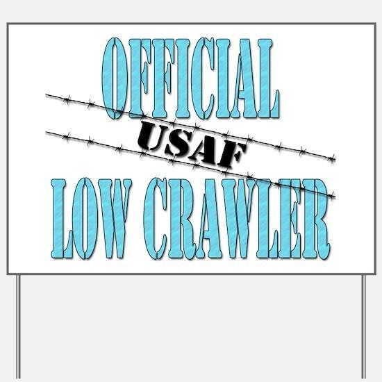 Official USAF Low Crawler (boy) Yard Sign