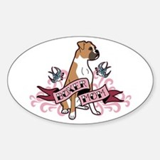 Boxer Mom Tattoo Oval Decal
